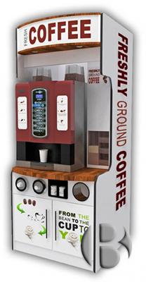 Кофейные автоматы с крышками для стаканчиков