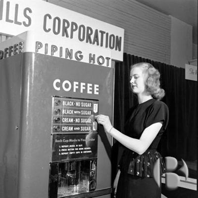 первые кофейные автоматы