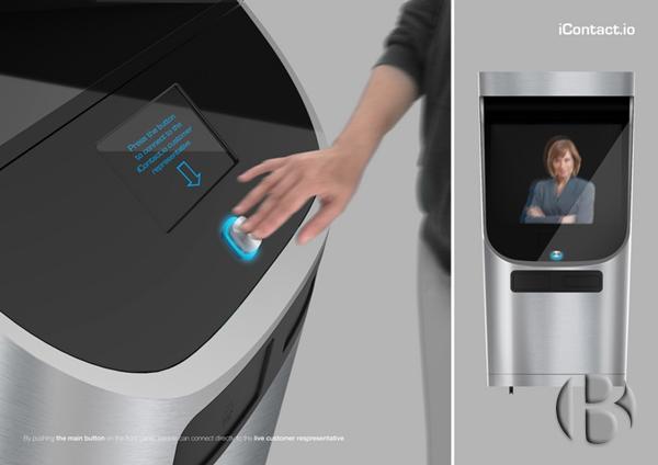 Клиент выбирает на дисплее с сенсорным экраном любые запросы и заставляет голографическое изображение человека выполнить определенные задач