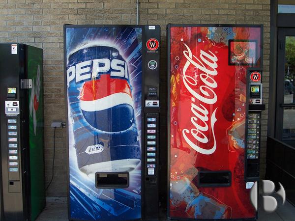 торговые автоматы Пепси и Кола