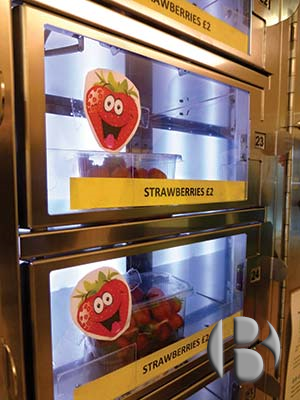 автомат по продаже клубники