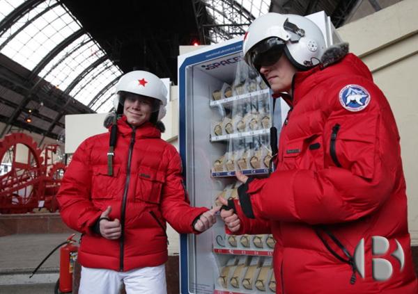 торговый автомат с космической едой
