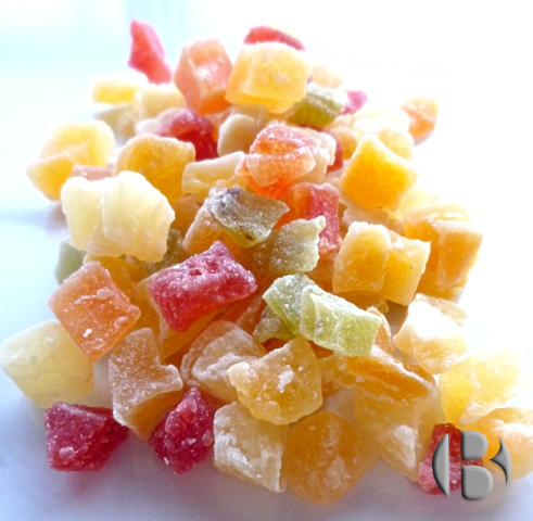 фруктовые и ягодные кусочки