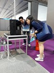 VMF 2018. Китай. Стенд ПРОДИС рассматривают удивленные китайцы.