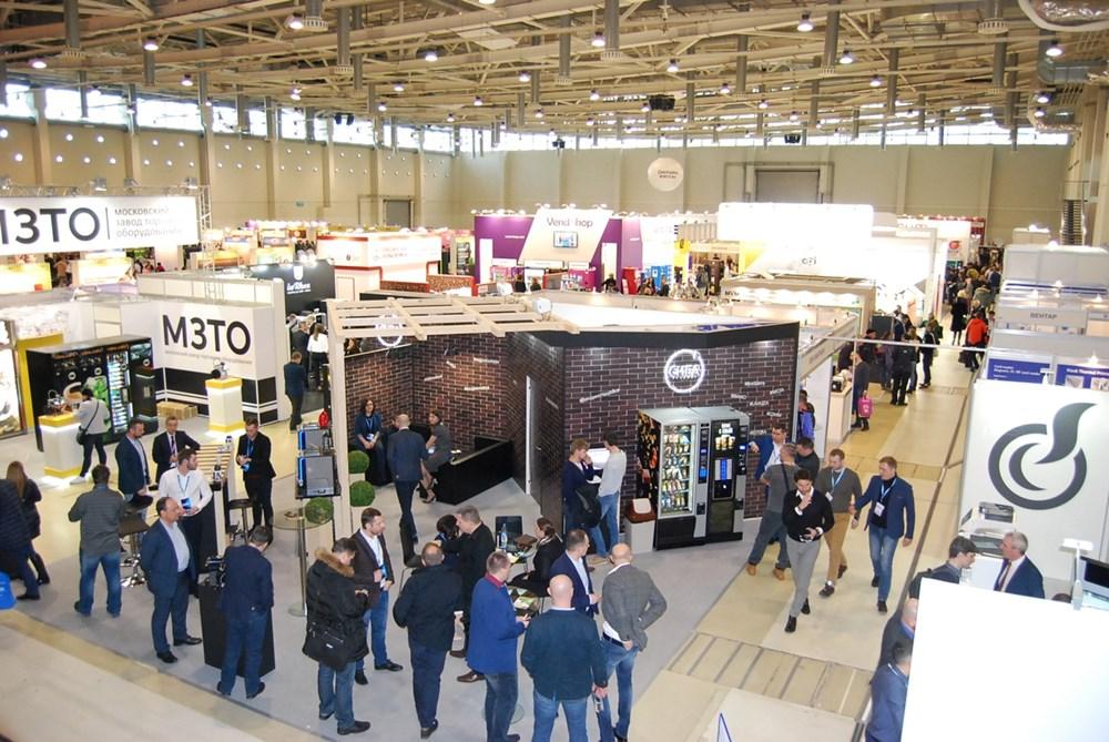 Отзывы о выставке VendExpo 2018. Стенд СИБА-Вендинг. Вид сверху