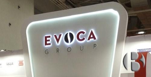 Логотип EVOCA на стенде выставки VendExpo 2018