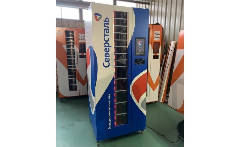 Вендинговый аппарат Vending Box 540 по заказу Восток-Сервис для выдачи СИЗ в электроремонтном цехе ПАО «Северсталь»