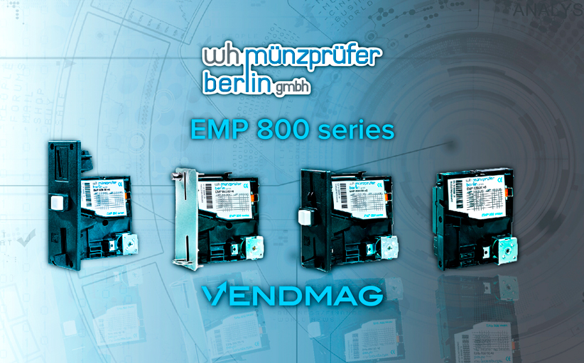 Серия монетоприемников EMP 800 от WH Munzprufer в России у компании Вендмаг