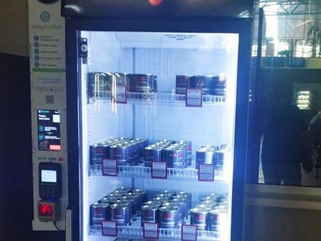 «Умный» холодильник от «Фабрика решений» на автовокзале Красноярска // фото Деловой Квартал