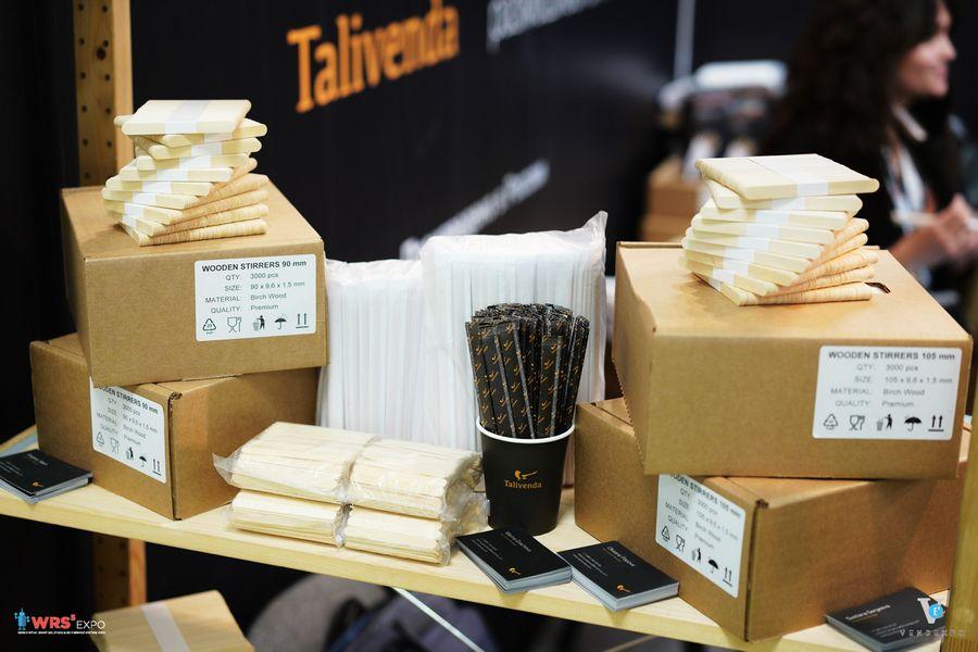 На оценку жюри были представлены деревянные размешиватели для кофе в индивидуальной упаковке