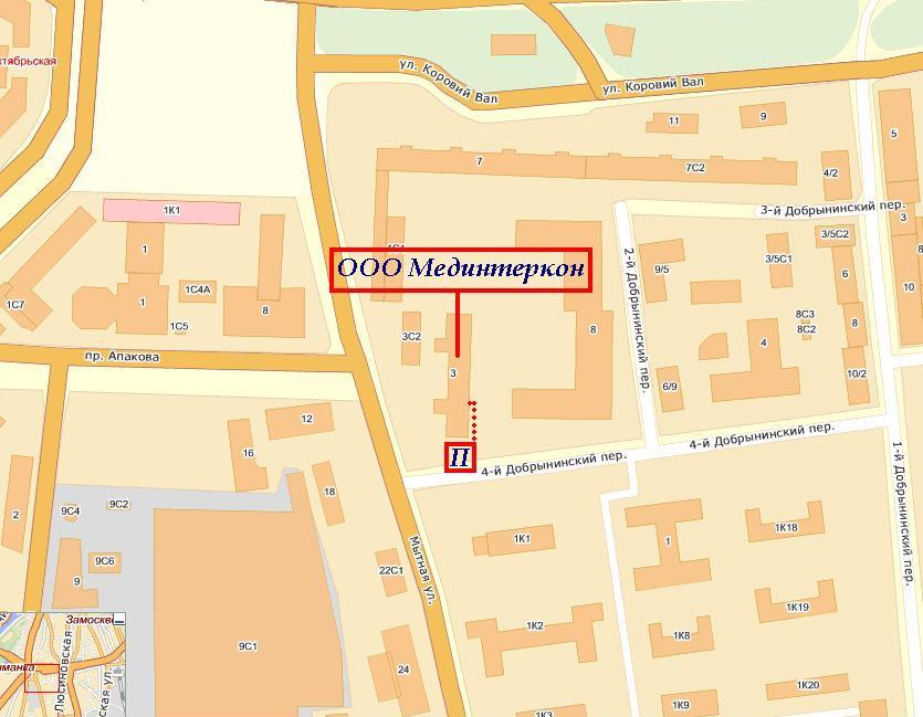 Схема проезда | Мединтеркон | Россия, г. Москва, ул. Мытная д. 3, оф. 39