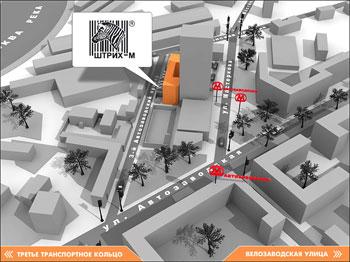 Схема проезда | ШТРИХ-М | ул. Ленинская слобода, д. 19, стр. 4