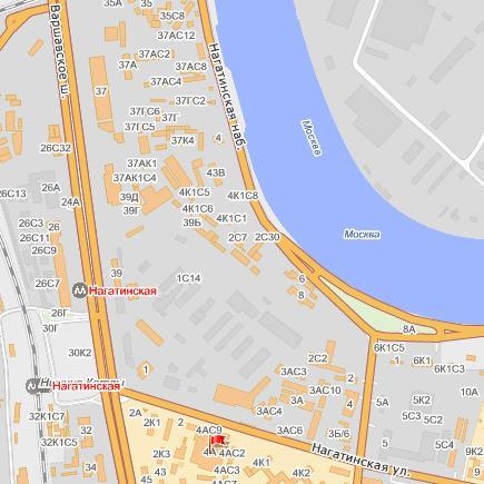 Схема проезда | БиВиЭм-Рус | Россия, Москва, Нагатинская улица, 4Ас1