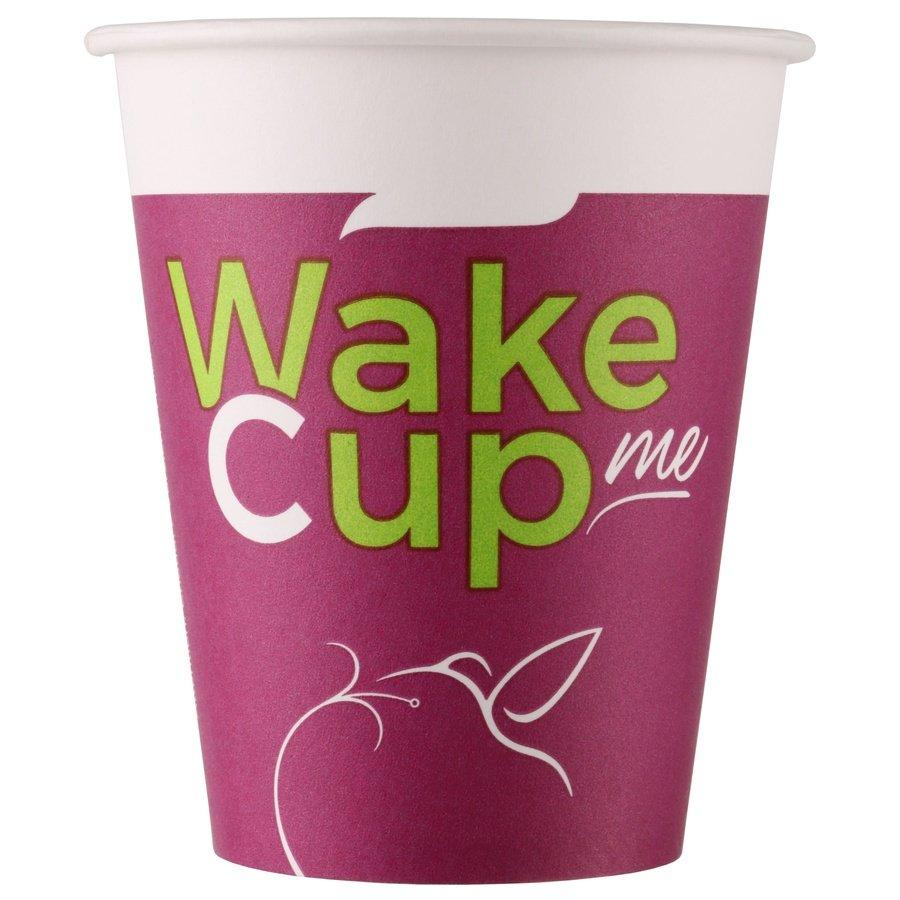 Одноразовый бумажный стакан Wake Cup Me 150 мл ВЕНДИНГ