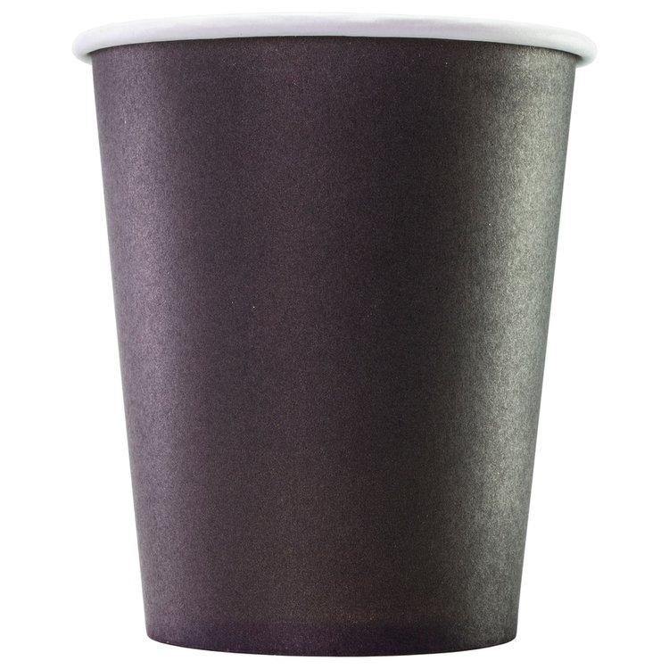 Одноразовый бумажный стакан ЧЕРНЫЙ 165 мл