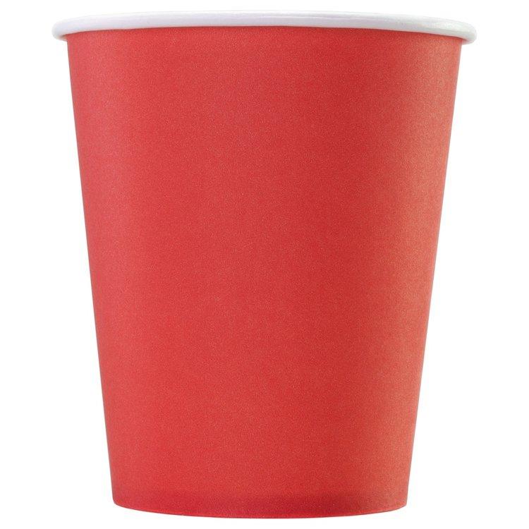 Одноразовый бумажный стакан КРАСНЫЙ 165 мл
