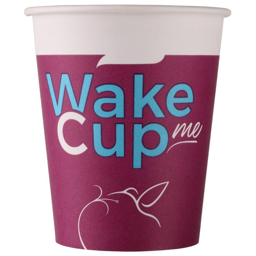 Одноразовый бумажный стакан Wake Cup Me 165 мл ВЕНДИНГ