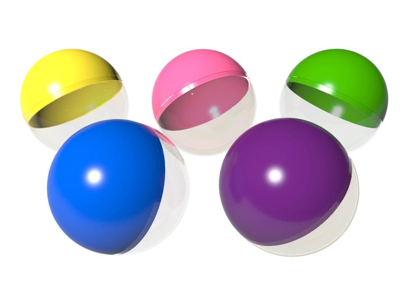 Капсулы круглые с цветной крышкой 100 мм