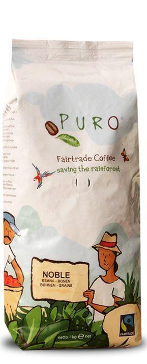 Кофе зерновой Puro Noble Fairtrade Coffee