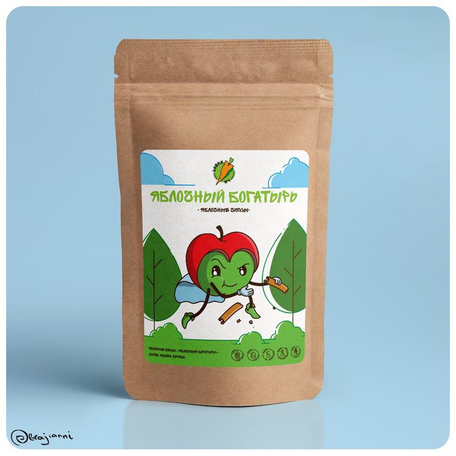 Яблочные Чипсы «Яблочный Богатырь»