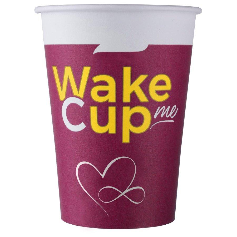 Одноразовый бумажный стакан Wake Cup Me 200 мл ВЕНДИНГ