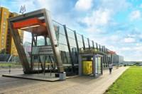 Блиндозер на станице метро Жулебино