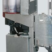 Fas 500. Диспенсер для напитков с двойным шарнирным соединением для легкого доступа к внутренней части машины для погрузки, обслуживания и очистки