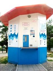 Автоматизированный киоск по розливу воды «Голубое Озеро» для продажи питьевой воды в тару