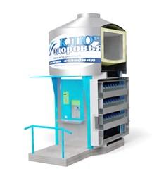Киоск-автомат по продаже артезианской воды в розлив «Ключ здоровья»