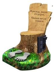 Вендинговое массажное кресло бочка или пенёк, массажное кресло Пенёк
