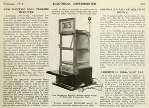 Описание работы торгового автомата 50-70-х годов от 1 августа 2013 г.