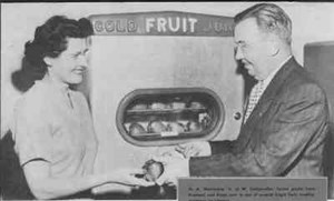 автомат по продаже фруктов, 50-70-е годы от 1 августа 2013 г.