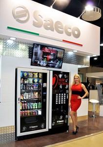 Новинки Saeco! Связка торговых автоматов  MegCold L + Atlante 700 Big Cups. VendExpo 2017 от 3 марта 2017 г.