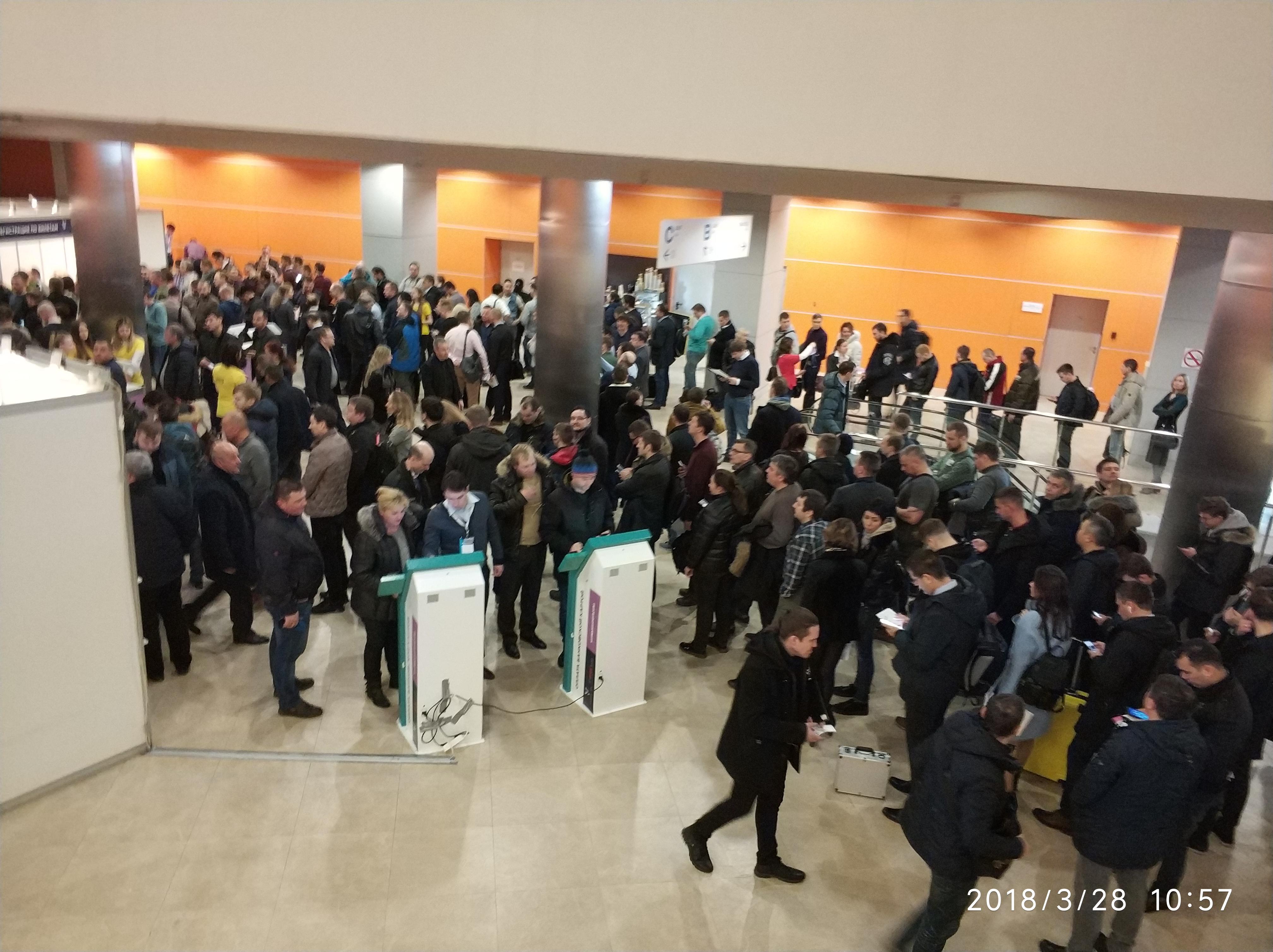 VendExpo 2018. Народ подтянулся, ждем регистрации. от 02.04.2018 9:22:00