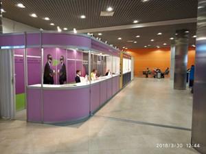 VendExpo 2018. Стойка регистрации по электронным билетам от 2 апреля 2018 г.