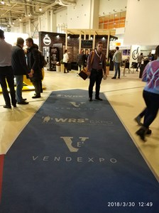 Дорожка для выставки  VendExpo 2018 от 2 апреля 2018 г.