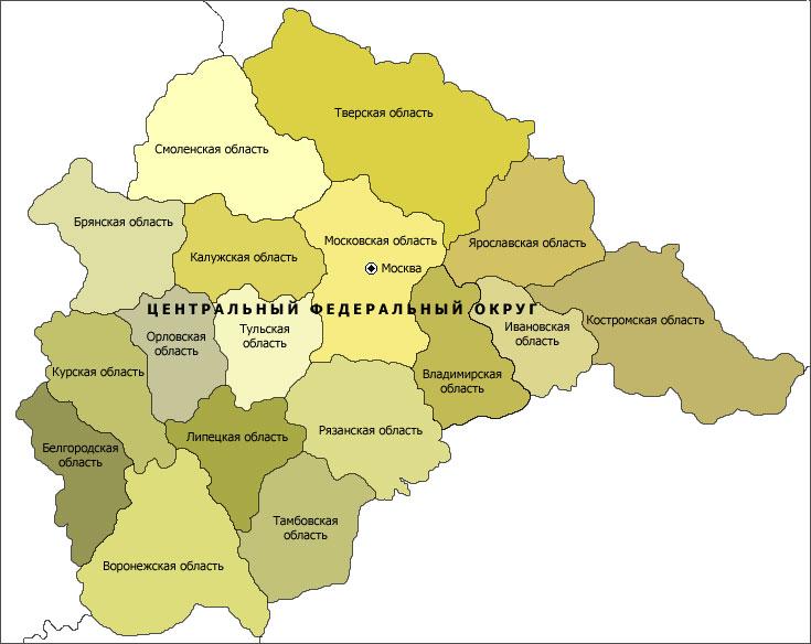 сообщили карта центрального района россии по областям шести квадратных